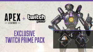 Twitch PrimeでApex Legendsのスキンとパックが貰える!【Apex Legends】